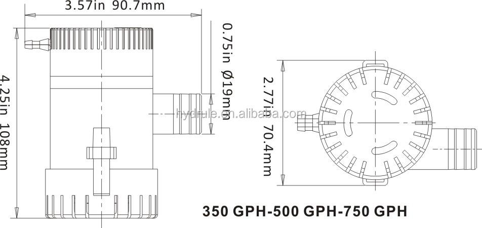 Hydrule 750gph 12v Draw Pump For Milking Machine Buy Draw Pump