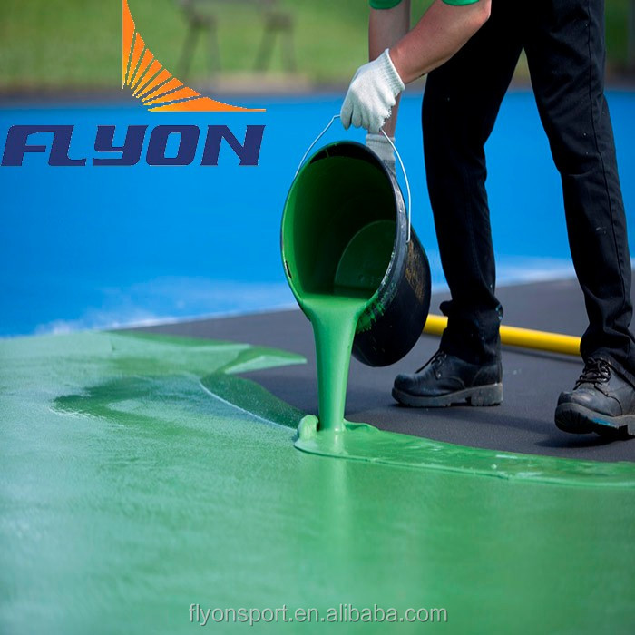 Silicone PU outdoor/ indoor flooring for basketball and baseball Olympic games PU floor