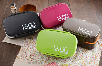 362c2df7c85f Fun Life 12:00 It's Lunch Time Japan Style Double Tier Leakproof Bento Box  Custom Bento Box Bento Lunchbox - Buy Leakproof Bento Box,Custom Bento ...