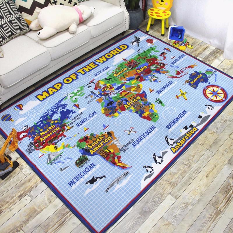 Children Large Rug Girls Boys Bedroom Play Room Fun Floor