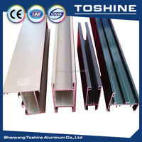 Easy to clean shine face electrophoretic coated aluminum extrusion profiles champagne widow profile