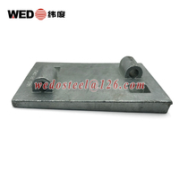 railroad railway rail canted tie plate tapered base plate used on railway wooden sleeper and concrete sleeper