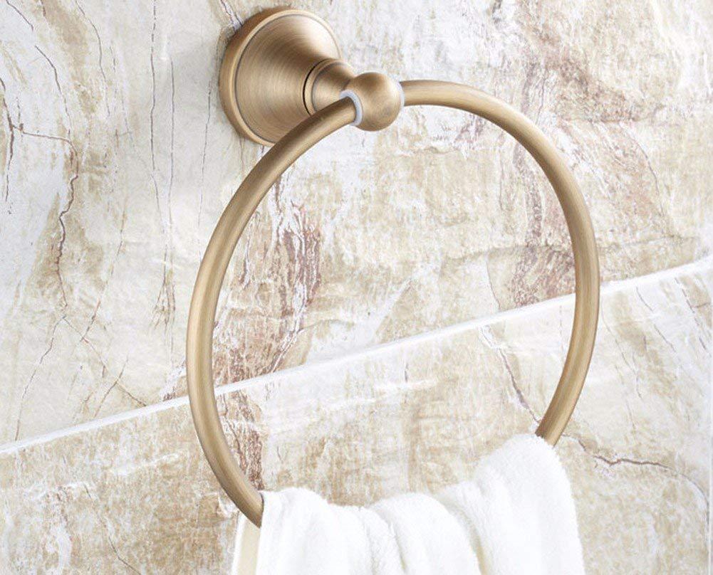 MDRW-Bathroom Accessories Towel Ring Bathroom Accessories All Copper European Retro Bathroom Towel Ring