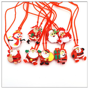 Cartoon christmas decorations Halloween necklaces Small gifts for children Luminescent Necklace