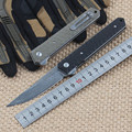 2016 New tactical folding knife hunting camping pocket knife VG10 blade G10 handle survival utility knives