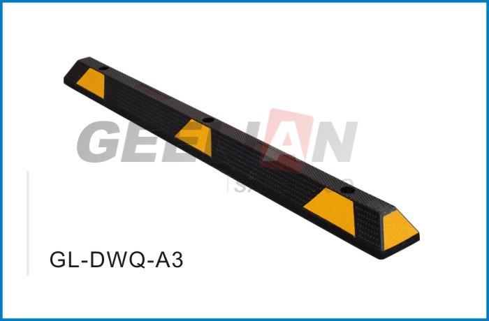 Long 6 Feet 72 Reflective Rubber Parking Block Car Wheel Stopper