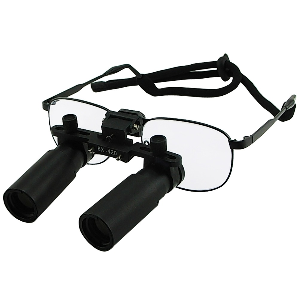 Keplerian Style 6.0x 6x Binocular Dental Loupes Surgical Medical Dentistry Frame 420mm Working Distance