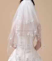 New White Wedding Bridal Veil With Comb 4 layer