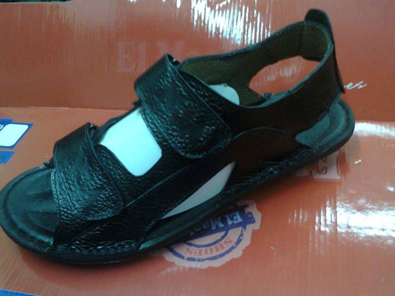38 brown leather cool men's sandals and summer quality Egyptian 44 Havana black original sandals Top size vxwXq6FUW