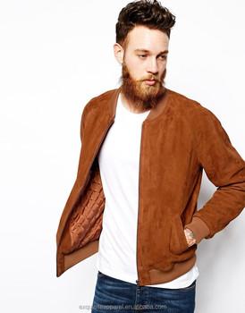 wholesale dealer e9955 5790e Hochwertige Wildleder Jacke Für Männer Zip Up Nach Designs Männer Wildleder  Bomber Jacke - Buy Leder Bomber Jacke,Herren Wildleder ...