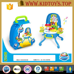 Cheap children B/O fitment & kitchen set toys with music and light for boys