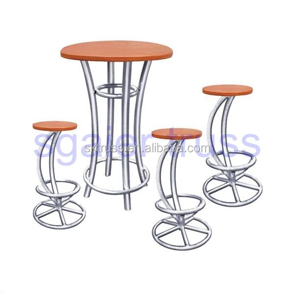 Aluminium Traversen Bar Tisch Und Stühle Hohe Tische Und