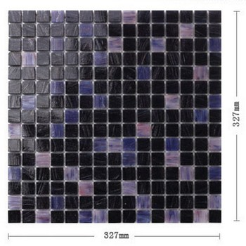 Recycled glass mosaic black tile glass mosaic tile for bathroom decoration SP055
