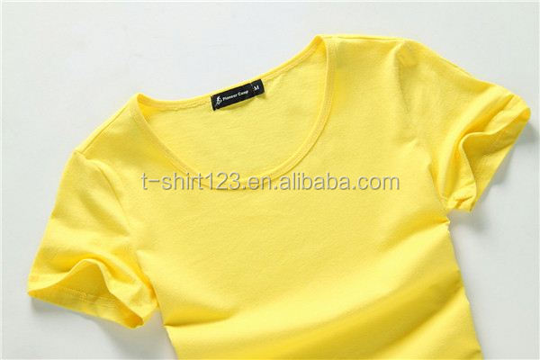 wholesale hot sale solid colored womens tshirts