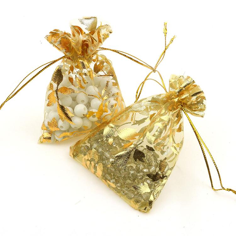 gold 7x9cm rose organza packaging bags pochette tulle bonbon wedding gift bags retail packaging. Black Bedroom Furniture Sets. Home Design Ideas