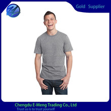 Plain Grey Color Blank Cotton 2014 Fashion Mens T-shirt Crewneck