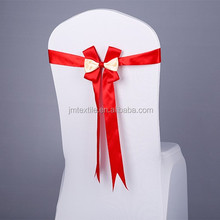 cheap eggplant wholesale wedding satin chair sashes for chair cover decoration