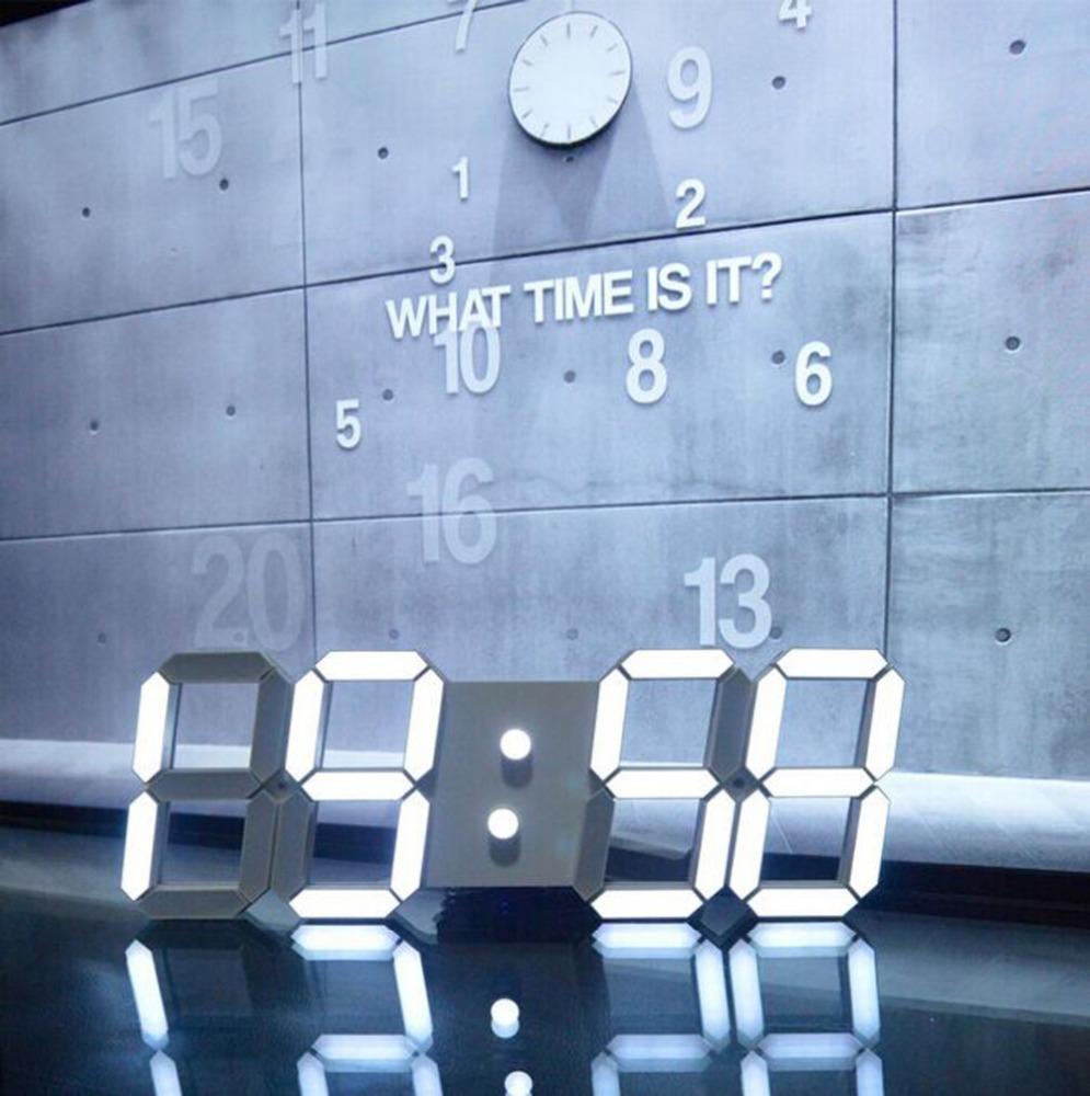 Hogift grote moderne ontwerp digitaal led horloge vintage grote ...