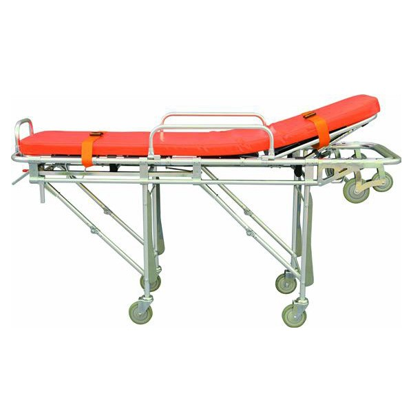 high strength Aluminum Emergency Stretcher, patient transport wheeled stretcher