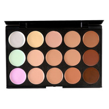 Free Shipping Hot Sale New Makeup Salon/Party Contour Face Cream Makeup Concealer Palette 15 Colors