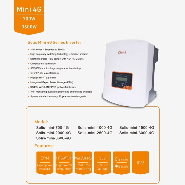 Top brand Solis 1500w grid tie solar inverter for solar panel system home,  View solar inverter, Solis Product Details from Nantong Gamko New Energy