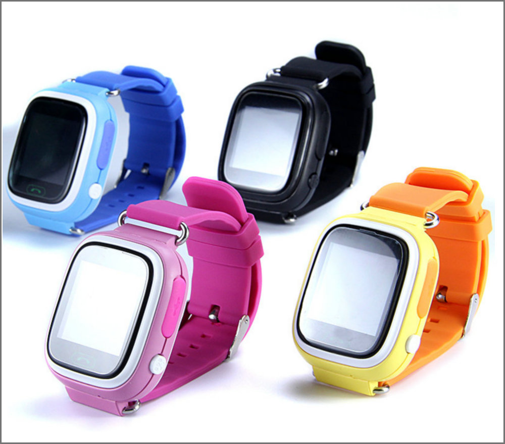 Q90 GPS Phone Positioning Fashion Children Watch 1.22Inch Color Touch Screen WIFI SOS Smart Watch Baby Q80 Q50 Q60