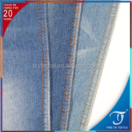 professional manufacturer 2% lycra best quality denim fabrics made in Foshan