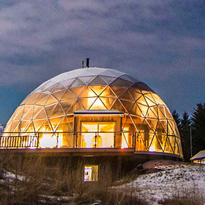 Glamping tent dome house with bathroom for hotel resort