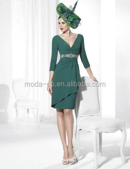 Charme robes de soirée turque, Vert courte robe de soirée
