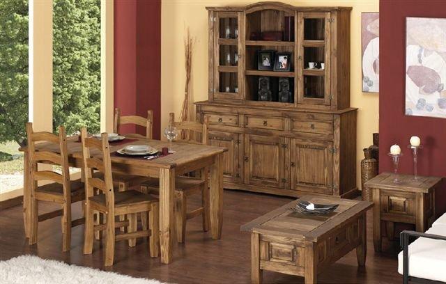 Juego De Comedor Hecho En Pino - Buy Muebles Del Panel Product on ...