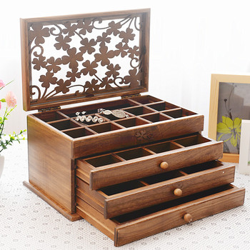 Luxury Custom Jewelry Box Set Multifunctional Jewellery Airtight Boxes General Solid Wooden Gift Box Buy Luxury Custom Jewelry Box