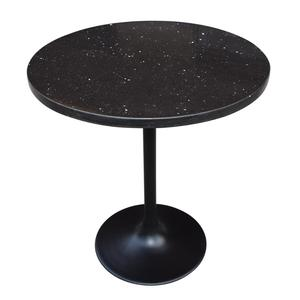 Good Quality Black Marble Dining Table With Tulip Table Base