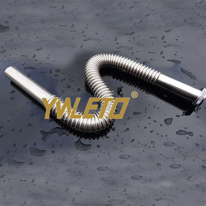 High quality stainless steel deodorant wash basin corrugation flexible waste sewer pipe