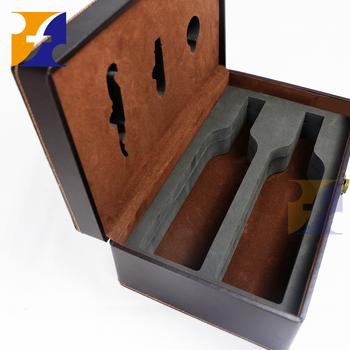 Black Pu Faux Leather Wooden Double 2 Bottle Wine Packaging Case Box Buy 2 Bottle Wooden Wine Boxeswooden Wine Bottle Boxeswine Case Box Product