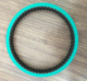 red color rubber coated industrial timing belt 225L-25