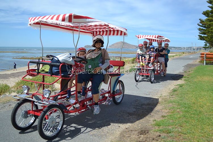 4 Wheel Bicycle For 4 Adults Surrey Bike Four Wheel 6 Person