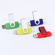 Custom logo swivel OTG usb flash drive 4gb 8gb mini otg pendrive 16gb for mobile phone High speed