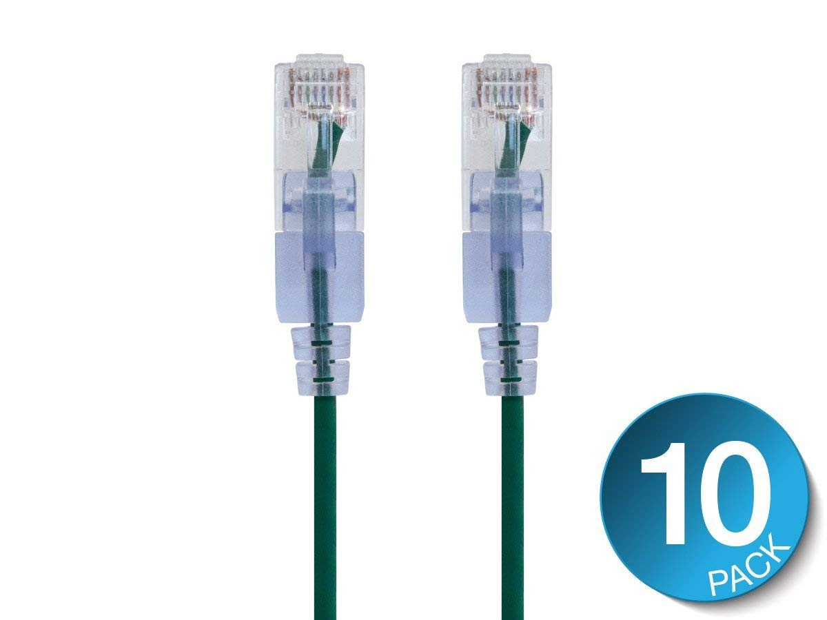 ACL 1 Feet RJ45 Snagless//Molded Boot Gray Cat6a Ethernet Lan Cable 4 Pack