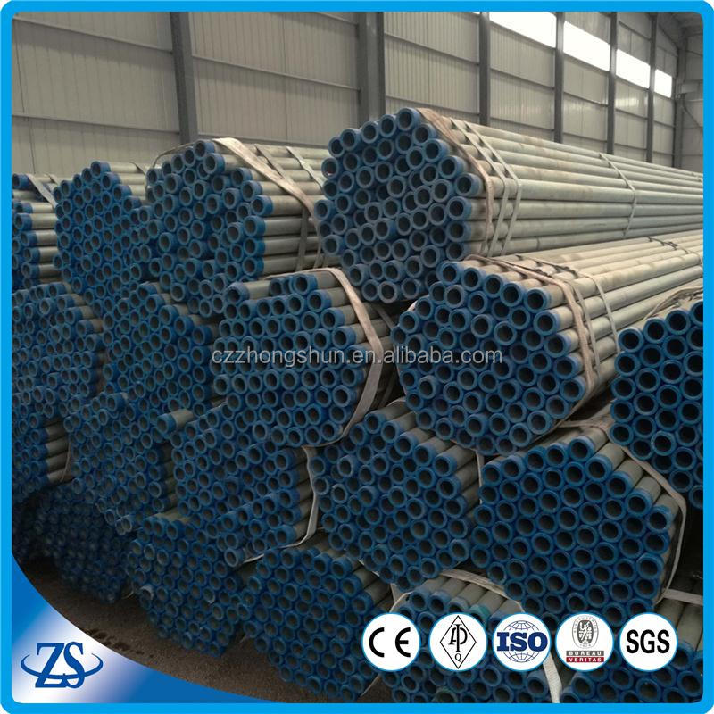 dn 25 sch30 carbon Hot rolled BS1387 galvanized ERW steel pipe with mill test certificate