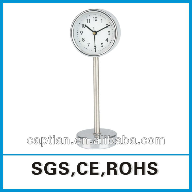 Small Metal spring silver Alarm Table Clock for promotion gift