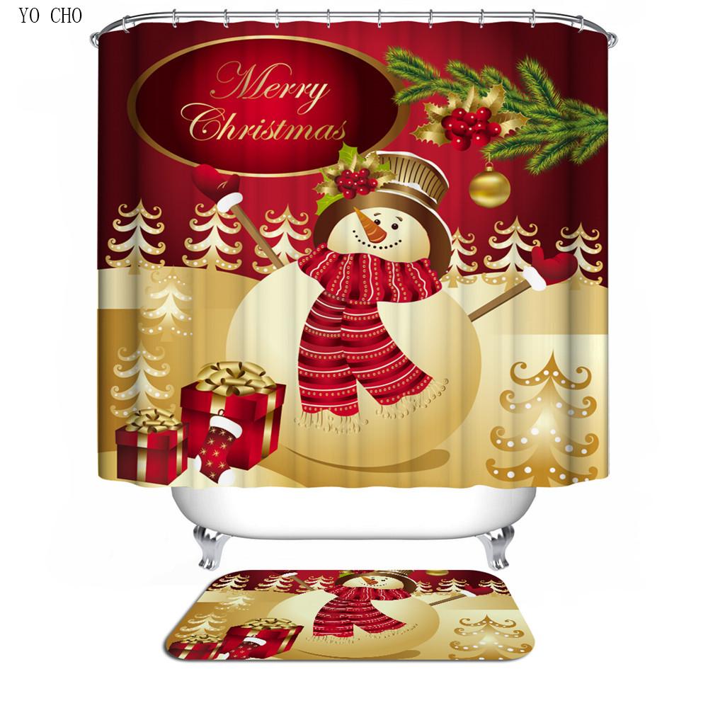 elegante bao de polister d cortinas accesorios de bao impreso navidad diseo de