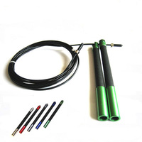 Stainless Steel Cable Speed Jump Rope Crossfit Wire Handle Skipping Rope