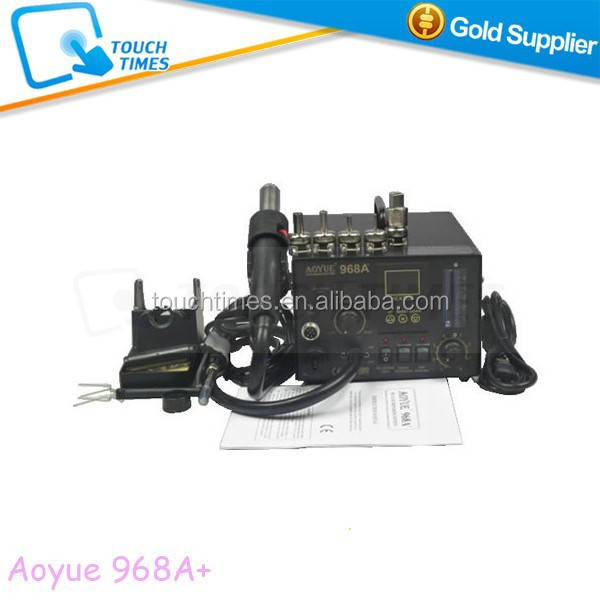 Aoyue 968A+ Hot Air Soldering Station 3 in 1 Hot Air Gun Welding Station Smoking Instrument