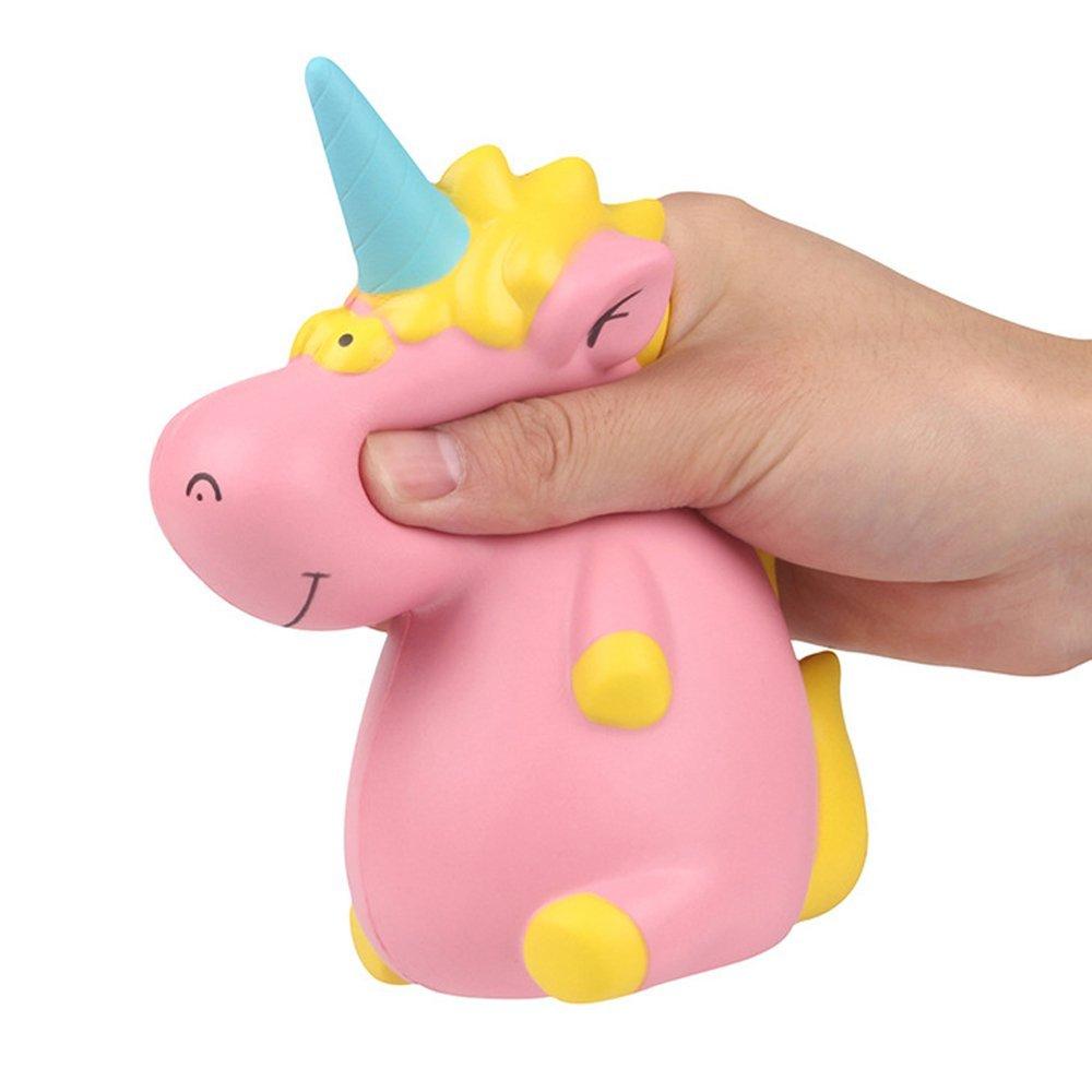 Asdomo Hippo Unicorn Squishies, 16CM Jumbo Slow Rising Squishies Cute Lovely Hippo Unicorn - Stress Reliver Relief Soft Charms Kawaii Squishies For Kids and Adults