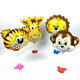 CYmylar helium mini size animal head balloons mini size tiger monkey lion giraffe foil balloons