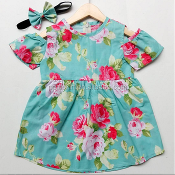 65ce41474f5a Simple Cotton Frocks Designs Baby Girl Floral Patterns Vintage Dress ...