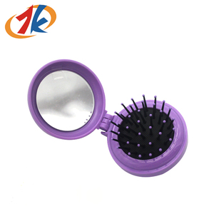 Wholesale Kids Plastic Mini Portable Folding Hair Comb Toy