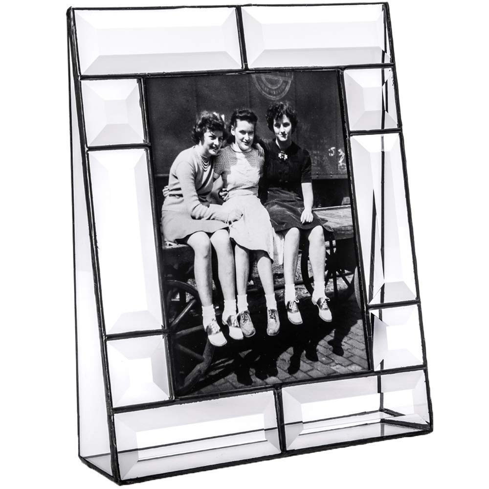 J Devlin Pic 112-57V Crystal Glass Picture Frame Tabletop 5x7 Vertical Photo Frame