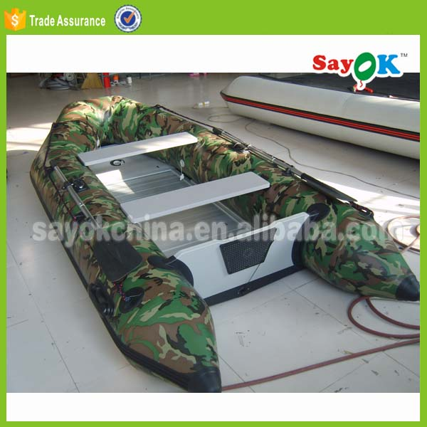 8 person military inflatable sail boat PVC aluminium floor inflatable dinghy sale