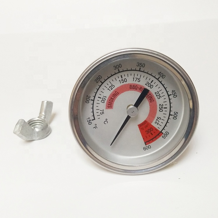58MM Bimetal Dial Meat Thermometer 50~350C for BBQ Oven Grilling
